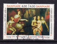 DENMARK, 1997, Used Stamp(s), Kalmarar Union, MI 1153-1154, #10231, Complete - Denmark