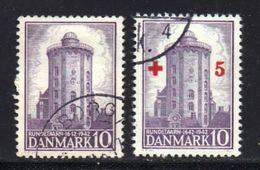 DENMARK, 1942, Used Stamp(s), Round Tower,  Mi 278+281, #10050, - 1913-47 (Christian X)