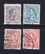 DENMARK, 1934, Used Stamp(s),Definitives, Christian X,  Mi 210-214, #10033, 4 Values Only - 1913-47 (Christian X)