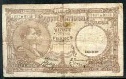 329-Belgique Billet De 20 Francs 1940 7837W0229 - [ 2] 1831-... : Belgian Kingdom