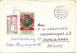 Czechoslovakia Cover Sent To Denmark 21-12-1968 - Czechoslovakia