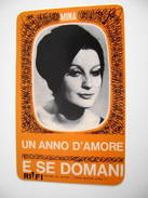 1965  Mina    CANTANTE CHANTEUR SINGER SÄNGER  Calendarietto    CALENDARIO CALENDRIER - Calendriers