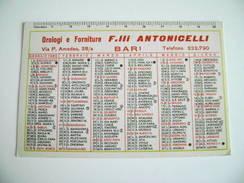 1965 Bari Orologio Antonicelli    CALENDARIO CALENDRIER - Calendriers