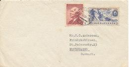 Czechoslovakia Cover Sent To Denmark 1-6-1957 Good Stamped - Czechoslovakia