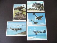 5 X Deutsche Flugzeuge Farbig Ju 87 + Ju 88 + Me 110 + Me 109 - Guerre 1939-45