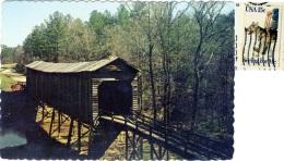 UNITED STATES AMERICA  SC  TROY  Long Cane Creek Covered Bridge  Nice Stamps - Greenwood