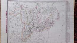 TURQUIE  EUROPE GRECE-RARE XIXE CARTE AMBROISE TARDIEU -AUTRICHE-HONGRIE-BULGARIE-SERVIE-ALBANIE-BOSNIE-VALACHIE-SERBIE - Geographical Maps
