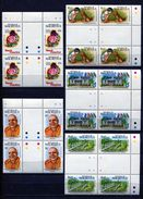 MAURITIUS 1992 * ANNIVERSARIES AND EVENTS * MI # 746 - 750 * GUTTER BLOCK Of 4 * MNH - Mauritius (1968-...)