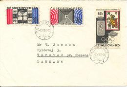 Czechoslovakia Cover Sent To Denmark Pardubice 2-5-1963 - Czechoslovakia
