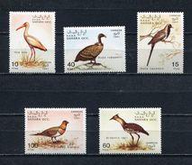 SAHARA OCC 1991 BIRDS Set Of 5 Stamps MNH - Fantasy Labels