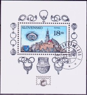 Mi.Nr.308 (Block10) SLOWAKEI Nitra USED/O/GESTEMPELT - Used Stamps