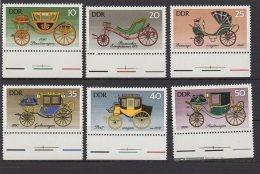 DDR / Historische Kutschen / MiNr.: 2147-2152 - Unused Stamps