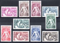 MONACO - YT N° 215 à 224 - Neufs ** - MNH - Cote: 175,00 € - Neufs