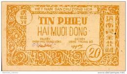 Vietnam,  North - Vietnam,  Pick Nr. 48 A , 20 Dong, 1948,  UNC, RARE ! - Vietnam