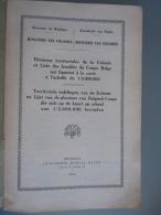 Territoriale Indelingen Van De Kolonie En Lijst Van De Plaatsen Van Belgisch-Congo Divisions Territoriales Dela Colonie - Praktisch