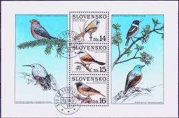 Mi.Nr.349 (Block13) SLOWAKEI Naturschutz - Singvögel  USED/O/GESTEMPELT - Used Stamps