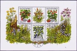 Mi.Nr.375-377 (Block14) SLOWAKEI Waldbeeren USED/O/GESTEMPELT - Used Stamps