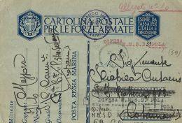 MARINA MILITARE WWII FRANCHIGIA MARINA TRAPANI 1941 DIFESA M.M. POLA - 1900-44 Victor Emmanuel III