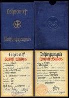 Lehrbrief Wiesbaden Groß Gerau Konditor 1939 - Briefe U. Dokumente