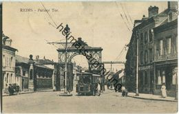 Reims - Pariser Tor - Strassenbahn - Feldpost - Reims