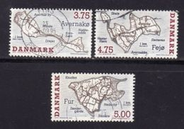 DENMARK, 1995, Used Stamp(s), Danish Islands, MI 1096=1099, #10217, 3 Values Only - Denmark