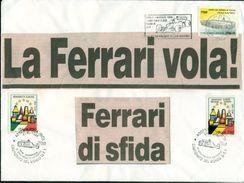 FERRARI - IMOLA - FORMULA 1 - BUSTA  COLLAGE CM 24 X CM 18 -MARCOFILIA . - AUTOMOBILISMO - Automobilismo - F1