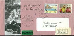 TAZIO NUVOLARI - BUSTA CM. 23 X 11 - RACCOMANDATA - AUTOMOBILISMO - 1992 - Automobile - F1
