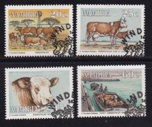 NAMIBIA 1993 CTO Stamp(s) Simmenthaler Cows 739-742 #7182 - Farm
