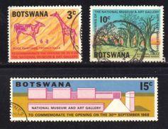 BOTSWANA, 1968, Cancelled Stamps , National Museum, 43-46 , #626, 3 Values Only - Botswana (1966-...)