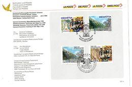 1999 Svizzera - Generakle Suvorov - Traversata Della Alpi 1799 - Congiunta Con La Russia - FDC - Switzerland