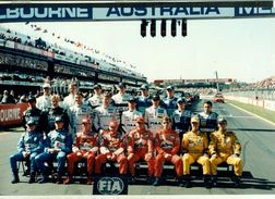 AUTOMOBILISMO- FORMULA 1 - FERRARI - PILOTI - FOTOGRAFIA CM.  30 X 20 - GP GP AUSTRALIA - MELBOURNE - Automobilismo - F1