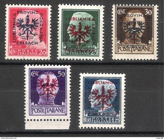 Lubiana 1944 - Imperiale Sovrastampata MNH - MH - Occ. Allemande: Lubiana