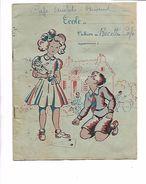 CAHIER ECOLE CAHIER DE RECETTES CAFE ARISTIDE BRIAND - Buvards, Protège-cahiers Illustrés