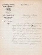 FAYL-BILLOT 1920 Fromagerie De PRESSIGNY PORT-SALUT PICQUOY Lettre à En-tête - Alimentaire