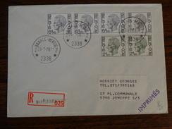 DOC. à Partir De Baarle-Hertog Le 24/01/78 En Recommandé. - Postmarks With Stars