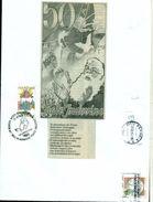 CALENDARI- FRATE INDOVINO - ASSISI - MARCOFILIA - BUSTA COLLAGE CM. 24 X 18 - Religione & Esoterismo