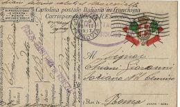 FRANCHIGIA POSTA MILITARE PIAZZA MARITTIMA VENEZIA 1917 X SORIANO CIMINO - 1900-44 Vittorio Emanuele III