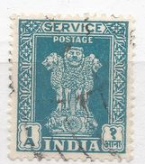 India 1950. Scott #O116 (U) Capital Of Asoka Pillar, Lions - Timbres De Service