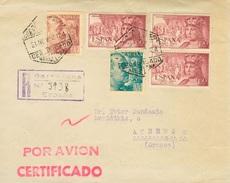 España 1952. Correo Aéreo Certificado De Barcelona A Atenas. - 1951-60 Lettres