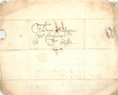 LàC   Gent   2/4/1683  >  Bruxelles  Cito Cito     2 Traits De Craie - 1621-1713 (Spanische Niederlande)