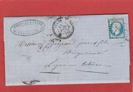 Var - Trans - PC3972 Sur N°14 - 1858 - LAC Vers Lyon - 1849-1876: Classic Period