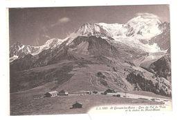 CPA 74 SAINT-GERVAIS Le Mont Blanc GARE DU COL DE VOZA STATION Achatez Immédiat - Saint-Gervais-les-Bains
