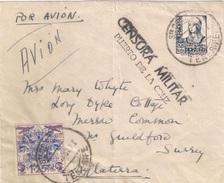 España 1937. Canarias. Carta De Tenerife Puerto De La Cruz A Surrey. Censura. - Marcas De Censura Nacional