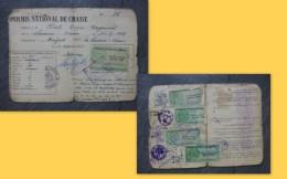 Liniers (86) Permis De Chasse Rat, Timbres Fiscaux Forte Cote 1957 à 61 ; Ref  665 VP 35 - Revenue Stamps