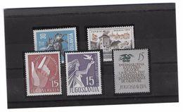EDY 397 - YUGOSLAVIA  , Cinque Valori Integri  *** - 1945-1992 Repubblica Socialista Federale Di Jugoslavia
