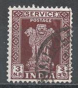 India 1957. Scott #O129 (U) Capital Of Asoka Pillar, Lions - Timbres De Service