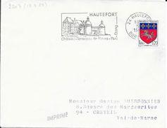 DORDOGNE 24 - HAUTEFORT    -  FLAMME N° 2203  -  VOIR DESCRIPTION -  1968  -  BELLE FRAPPE - Postmark Collection (Covers)