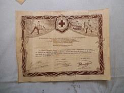 FEDERATION NATIONALE DE SAUVETAGE COURAGE ET DEVOUEMENT BREVET DE LANCEUR DE BOUEE 25 AOÔT 1935 A M. LANGLET RENE - Diploma & School Reports