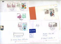 Lot 5 Lettre Cachet Sur Patrimoine - Collections, Lots & Séries