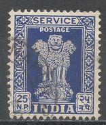 India 1957. Scott #O135 (U) Capital Of Asoka Pillar, Lions - Timbres De Service